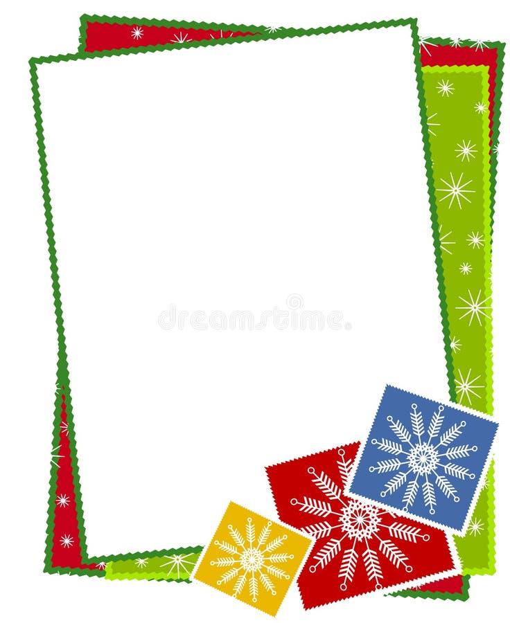 边界圣诞节雪花 向量例证
