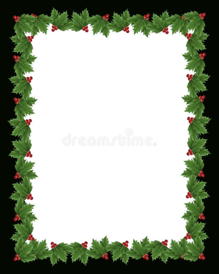 边界圣诞节霍莉例证 向量例证