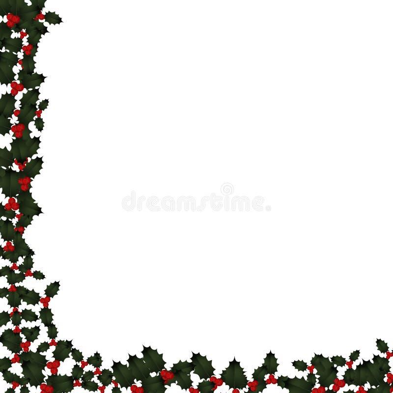 边界圣诞节霍莉 皇族释放例证