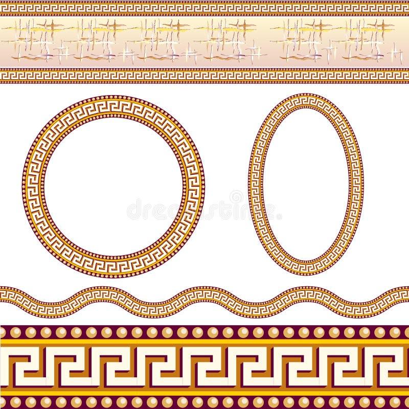 边界希腊模式 皇族释放例证