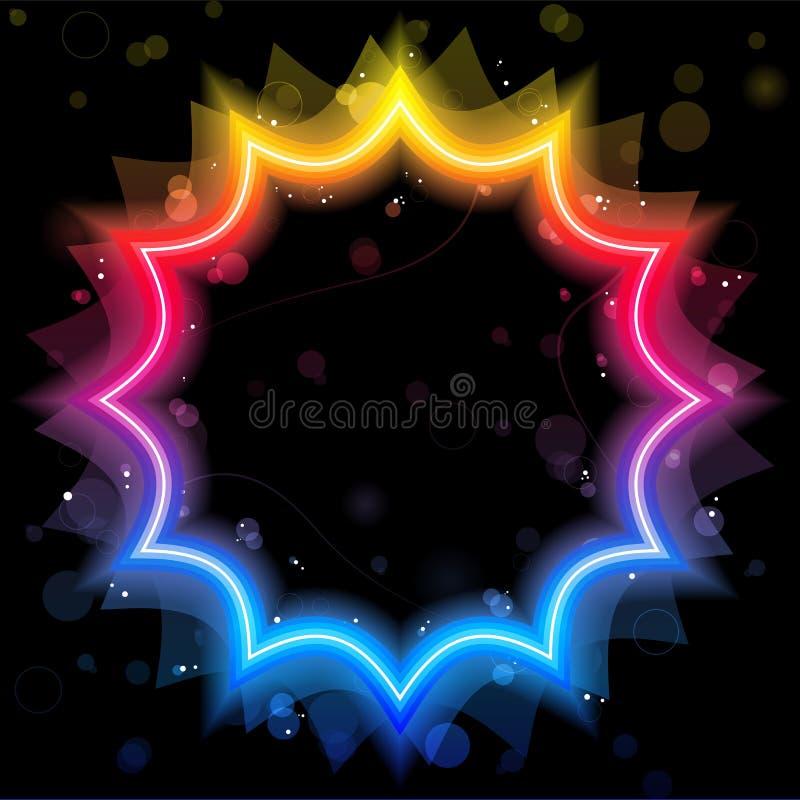 边界彩虹闪闪发光星形 库存例证