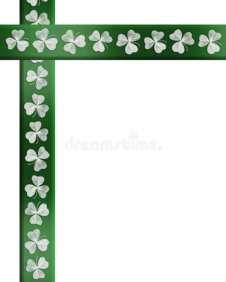 边界日爱尔兰patricks三叶草st 向量例证