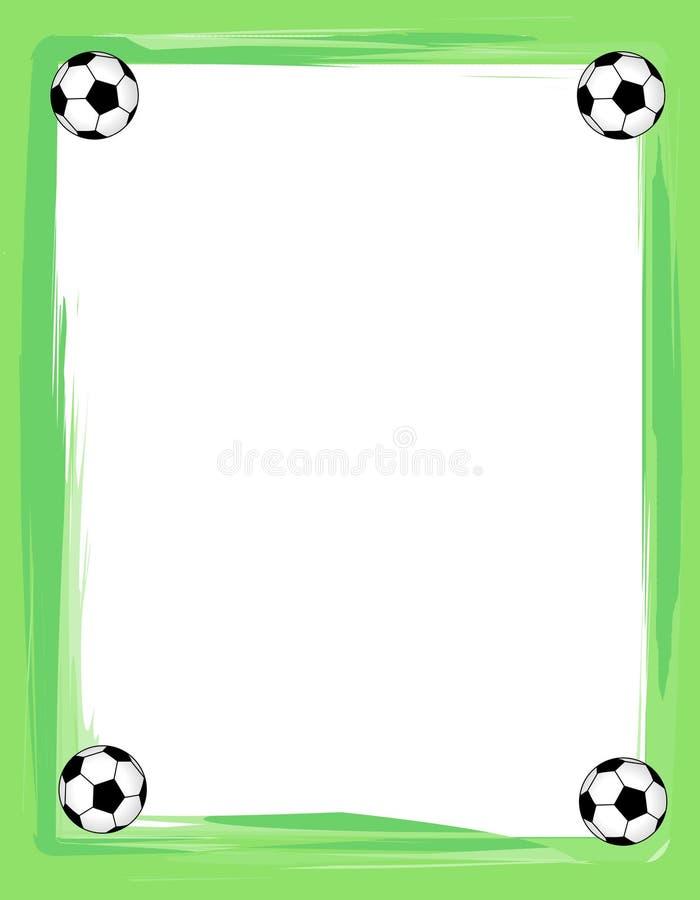 边界框架足球 向量例证