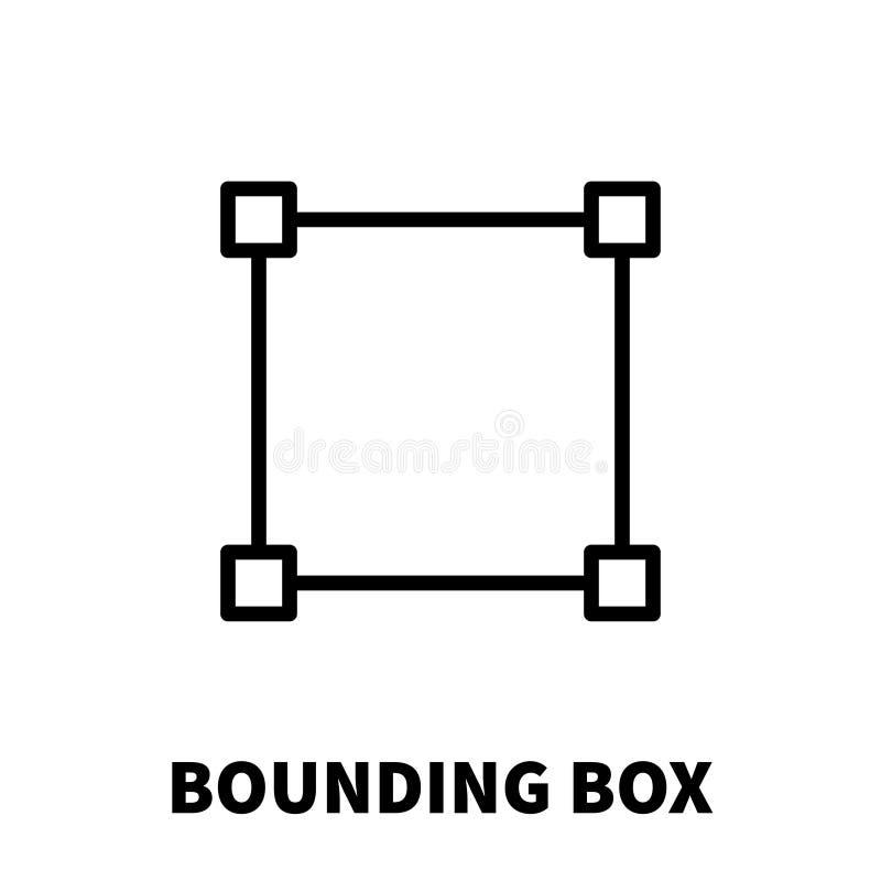 边界框象或商标在现代线型 向量例证