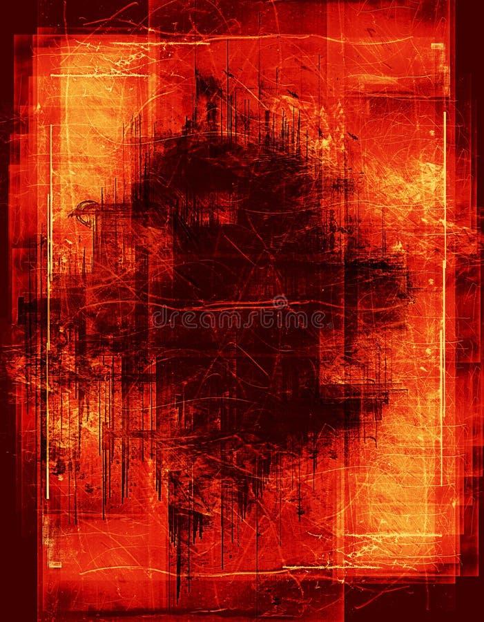边界灼烧的grunge 免版税库存照片