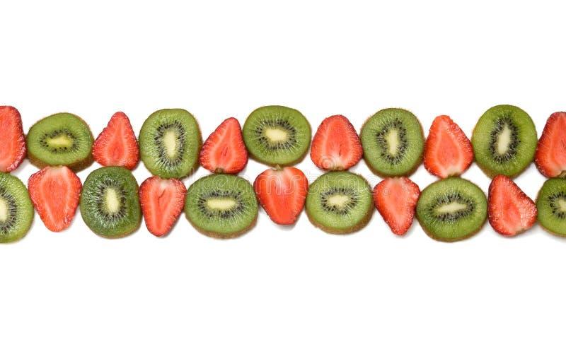 边界猕猴桃草莓 图库摄影