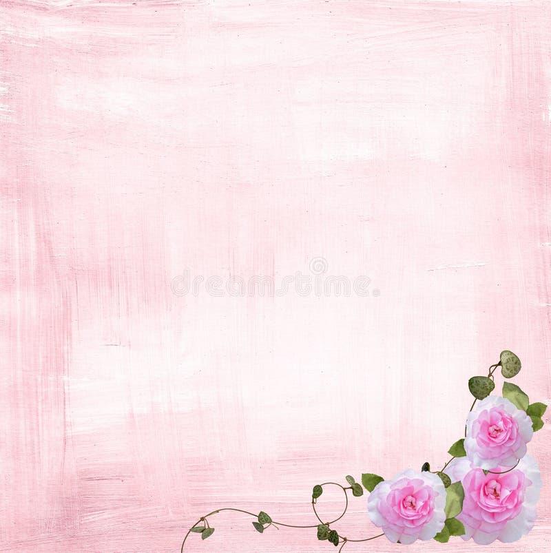 边界粉红色上升了 皇族释放例证