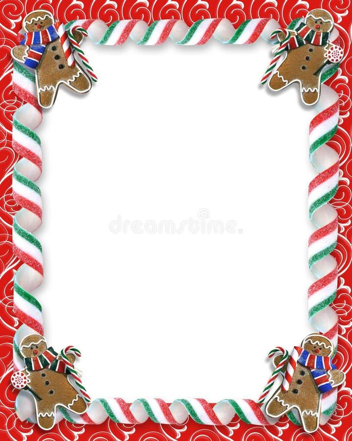 边界糖果圣诞节曲奇饼 皇族释放例证