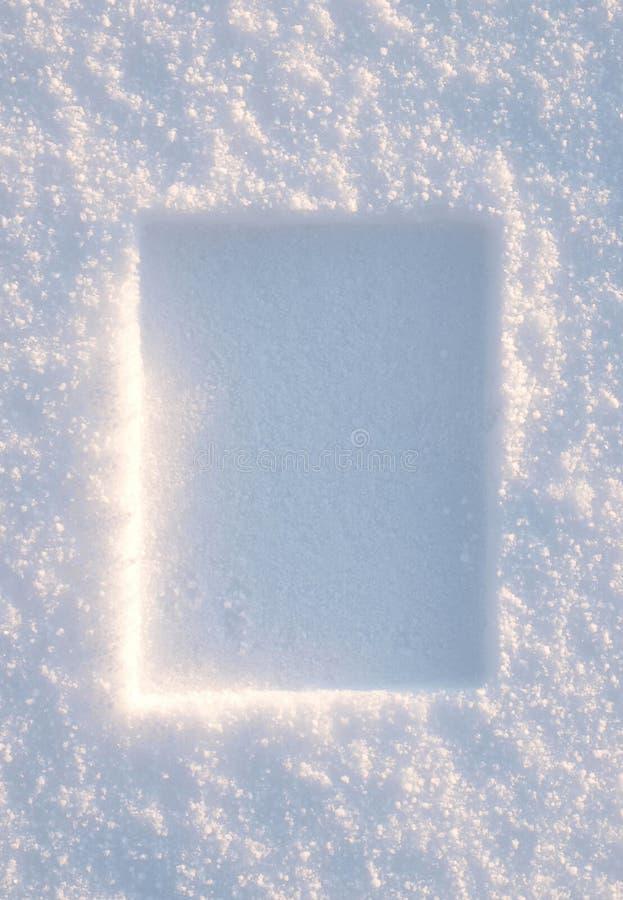 边界纵向雪 免版税图库摄影