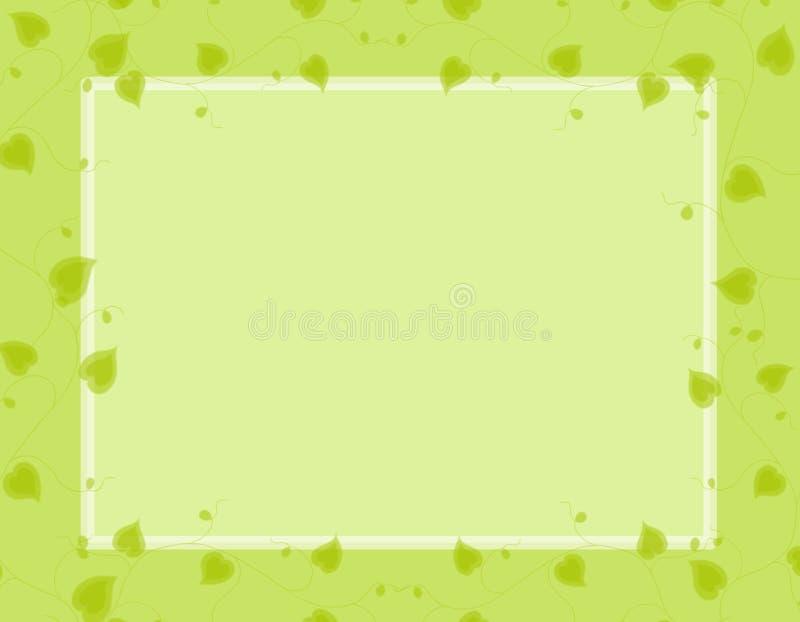 边界绿色重点光春天藤 库存例证