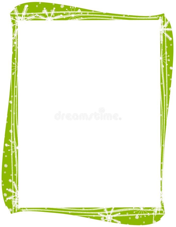 边界绿色雪花xmas 皇族释放例证