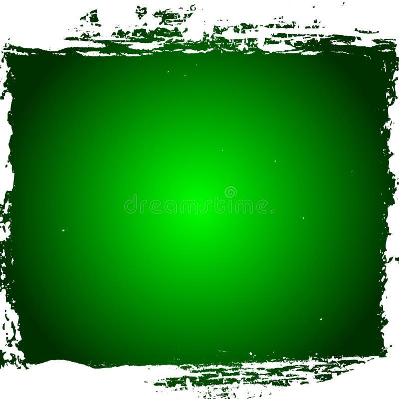 边界绿色grunge 库存例证
