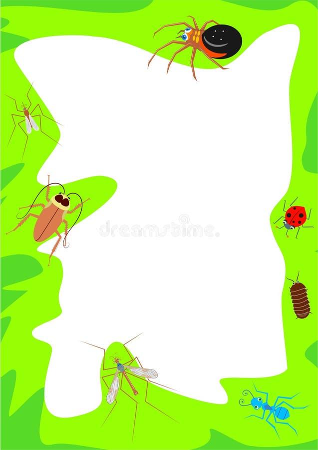 边界臭虫 向量例证