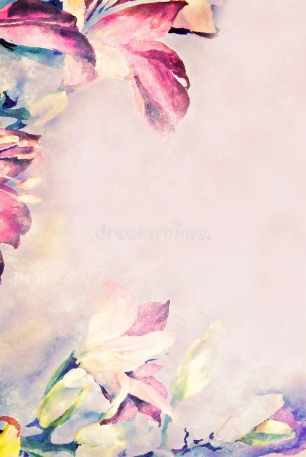 边界花框架柔和的淡色彩 库存照片