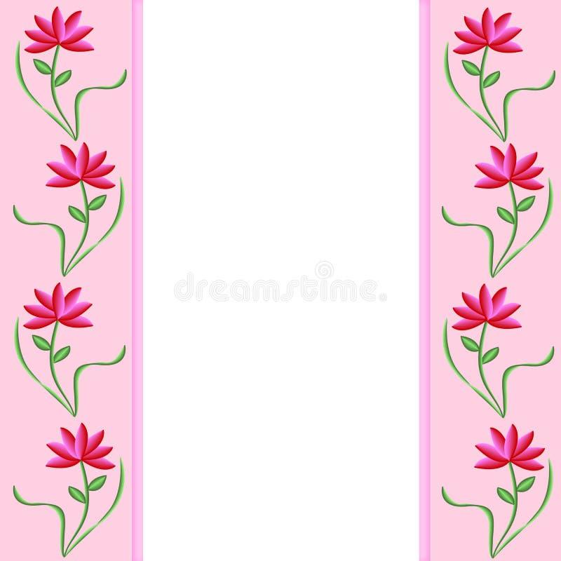 边界花粉红色 库存例证