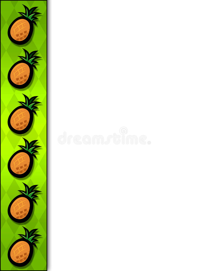 边界菠萝 库存例证