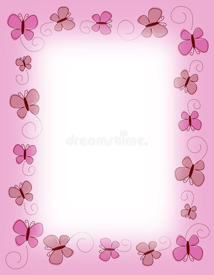 边界蝴蝶蝴蝶粉红色 向量例证