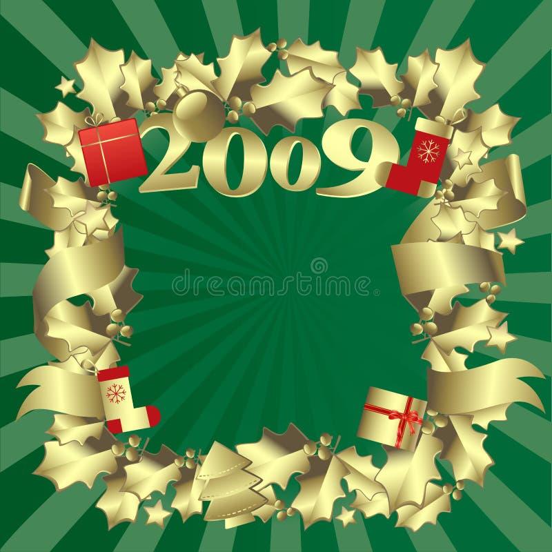 边界金黄新年度 皇族释放例证