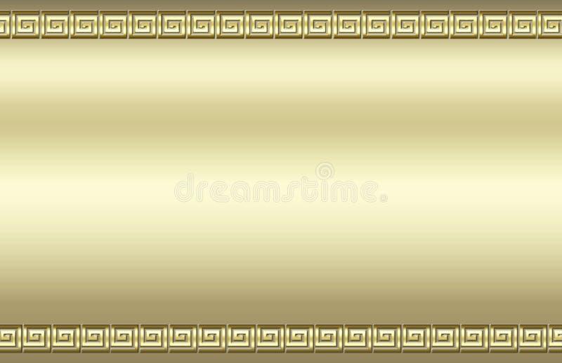 边界金黄漩涡 向量例证