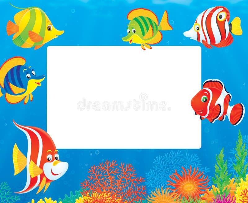 边界钓鱼热带 向量例证