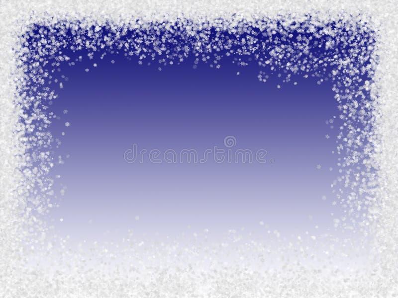 边界雪花 向量例证