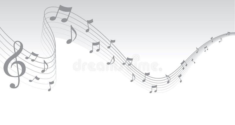 边界音乐页页银 库存例证