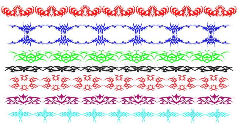 边界统治装饰线 皇族释放例证