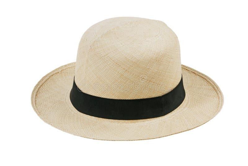 边缘宽帽子秸杆 库存照片