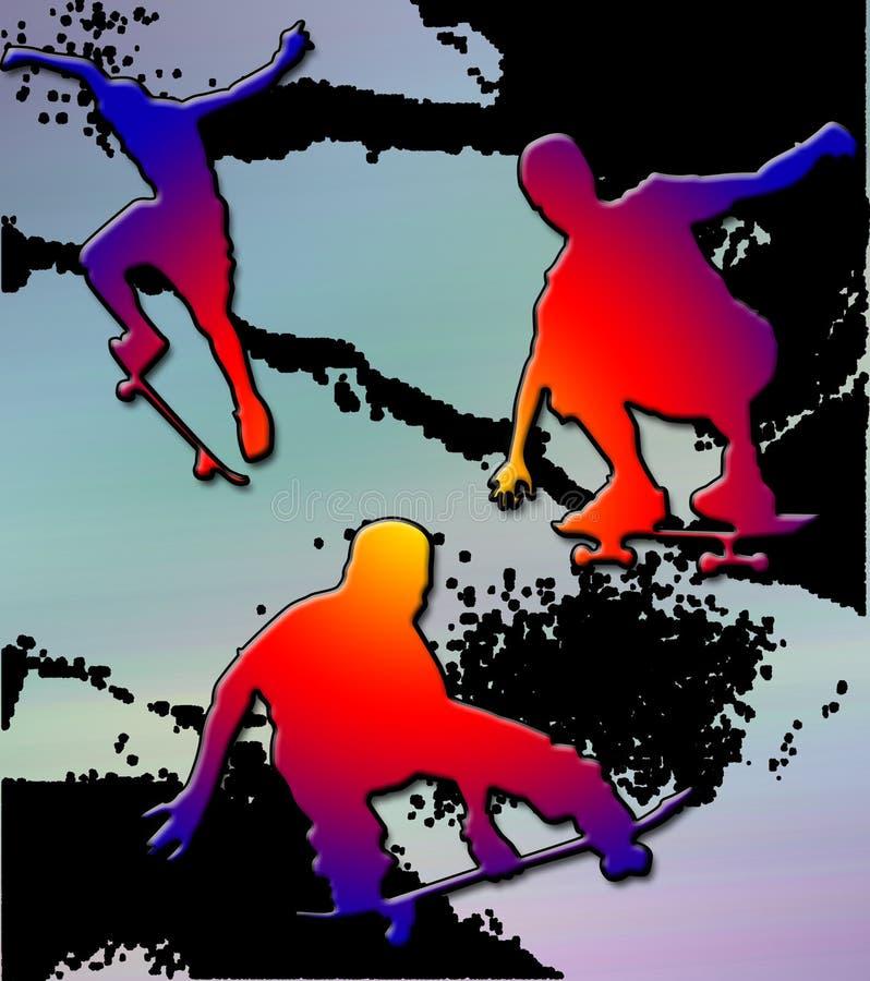 边缘溜冰板者 向量例证