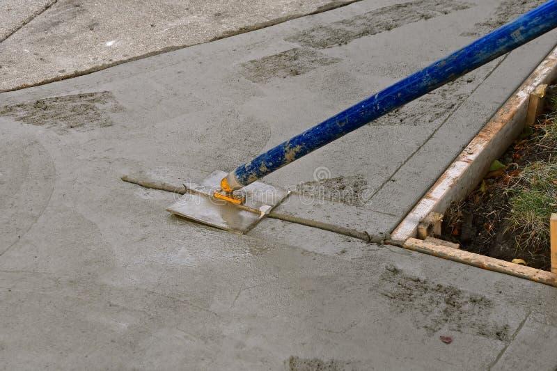 边路和车道修理项目 图库摄影