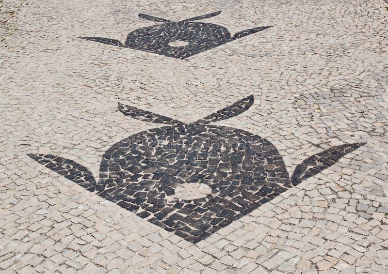 边路Barra da Tijuca马赛克在里约热内卢 免版税库存图片