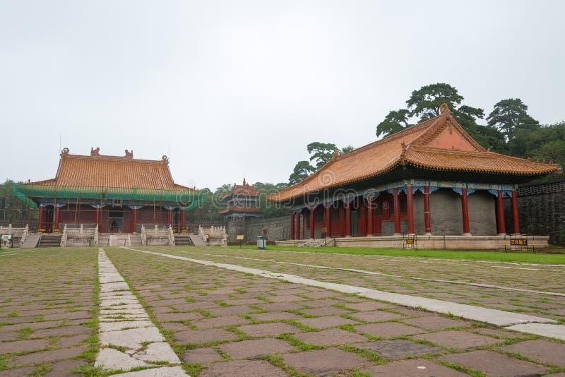 辽宁,中国- 2015年7月31日:清代(U的涪陵坟茔 免版税库存照片