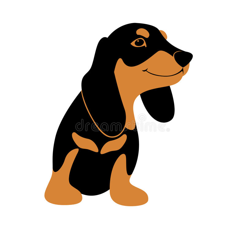 达克斯猎犬狗动画片传染媒介例证 向量例证