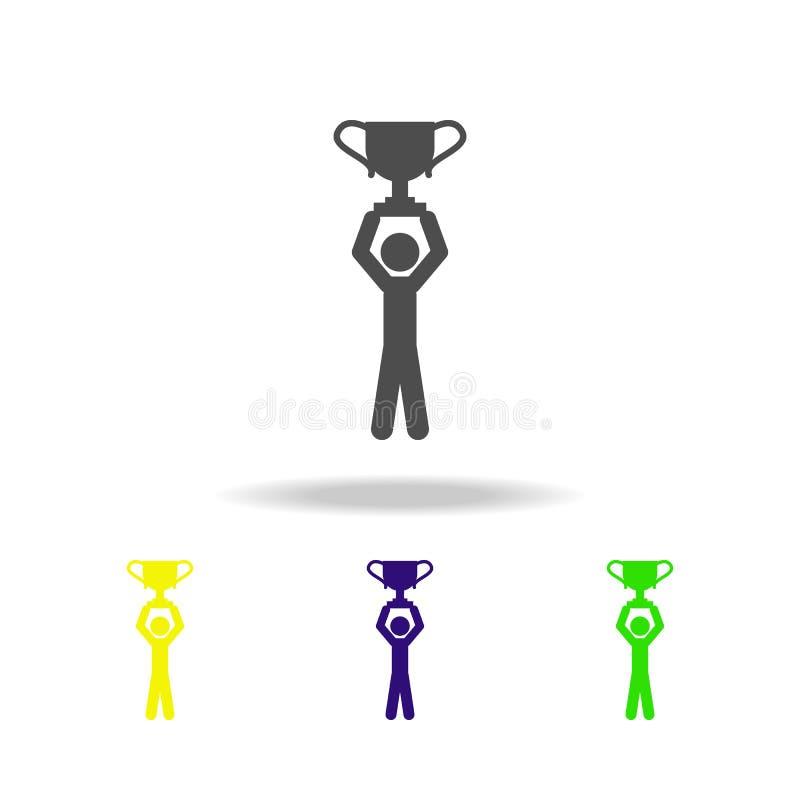 达到目标上色了象 被克服的挑战例证的元素 标志和标志汇集象网站的,网 皇族释放例证