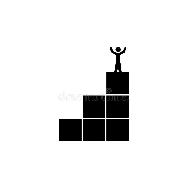 达到目标象 被克服的挑战例证的元素 优质质量图形设计象 标志和标志collec 库存例证