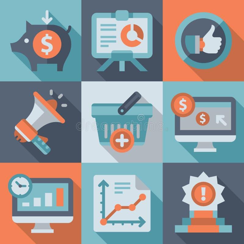 达到目标,营销,事务 向量例证