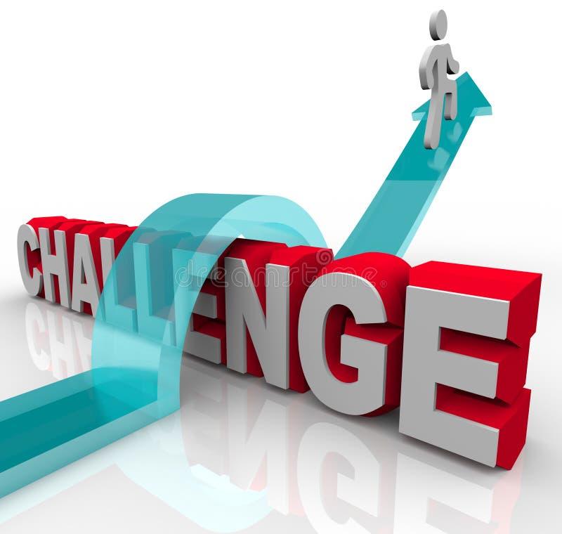 达到跳过成功的挑战 向量例证
