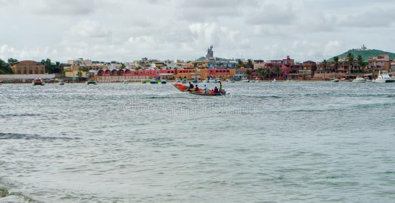 达喀尔海岸线 免版税库存图片