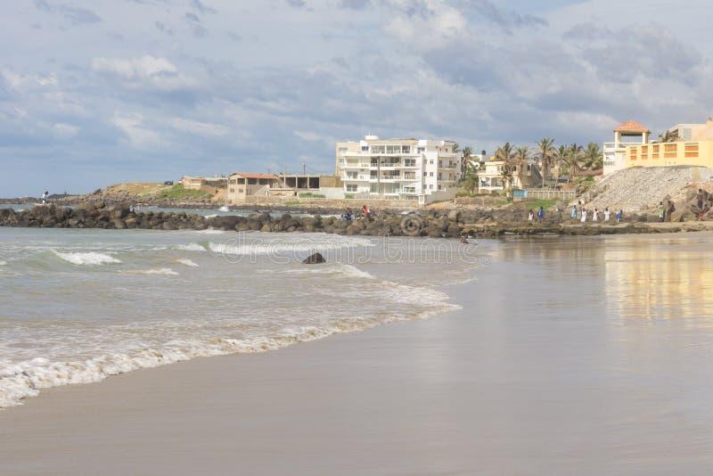 达喀尔海滩 库存图片