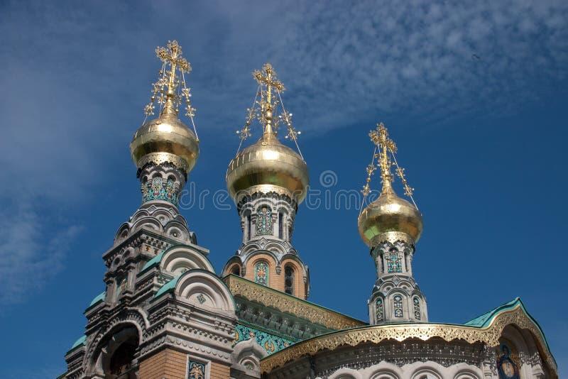 达姆施塔特俄国人教会 图库摄影