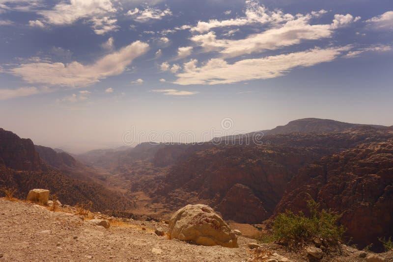 达娜生物圈储备约旦 免版税图库摄影