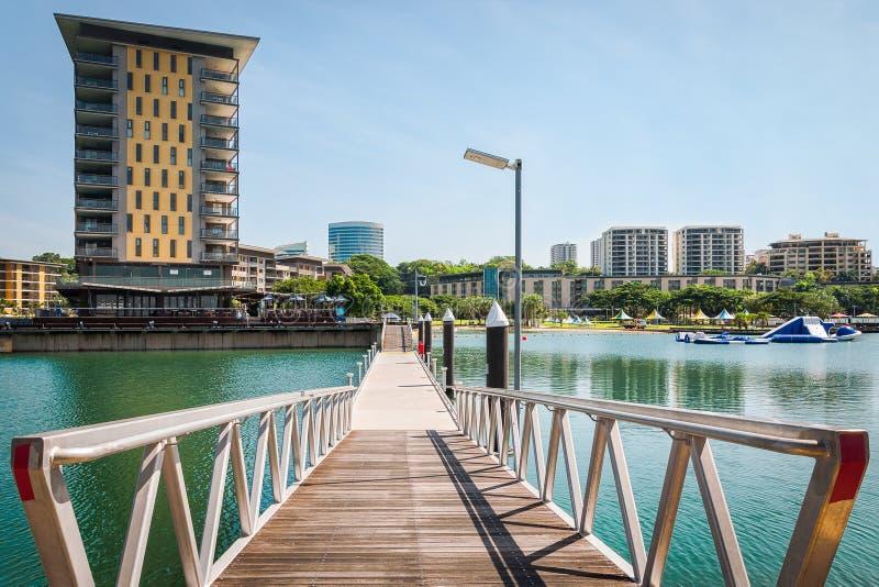达尔文江边码头,北方领土,澳大利亚 免版税图库摄影