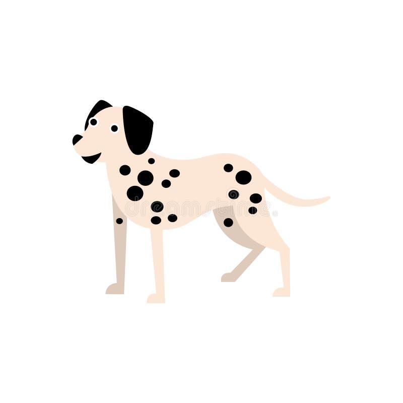 达尔马希亚狗品种原始动画片例证 库存例证
