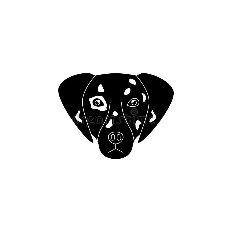 达尔马希亚面孔象 狗元素象普遍的品种  优质质量图形设计象 狗标志和标志汇集ico 库存例证