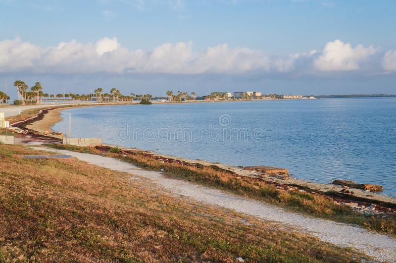 达尼丁堤道,佛罗里达 免版税库存图片