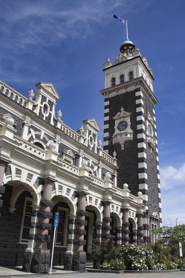 达尼丁火车站,新西兰 免版税库存图片