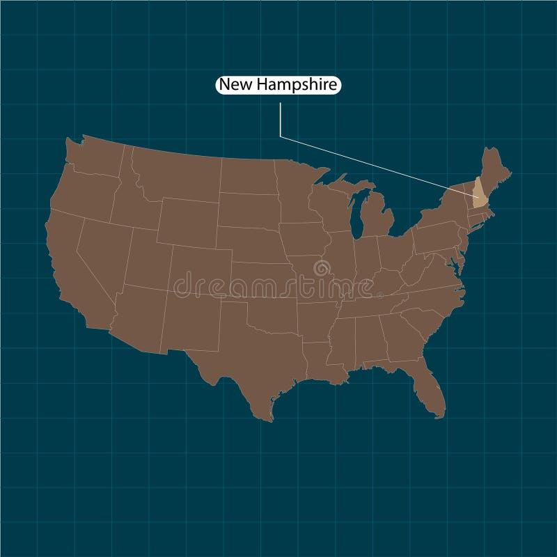 达成协议区区局人口调查剪报上色了数据greyed汉普郡高度包括的主要映射美国航空航天局新的路径相对替补河被遮蔽的显示来源状态周围的地形领土到都市我们 美国疆土状态黑暗的背景的 分立的国家 也corel凹道例证向量 库存例证