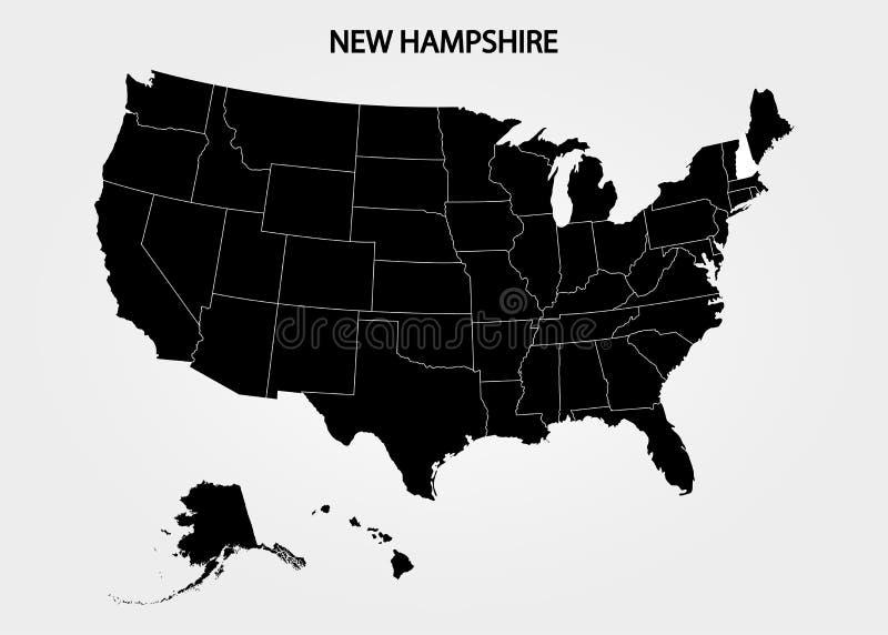 达成协议区区局人口调查剪报上色了数据greyed汉普郡高度包括的主要映射美国航空航天局新的路径相对替补河被遮蔽的显示来源状态周围的地形领土到都市我们 美国疆土状态灰色背景的 分立的国家 也corel凹道例证向量 库存例证