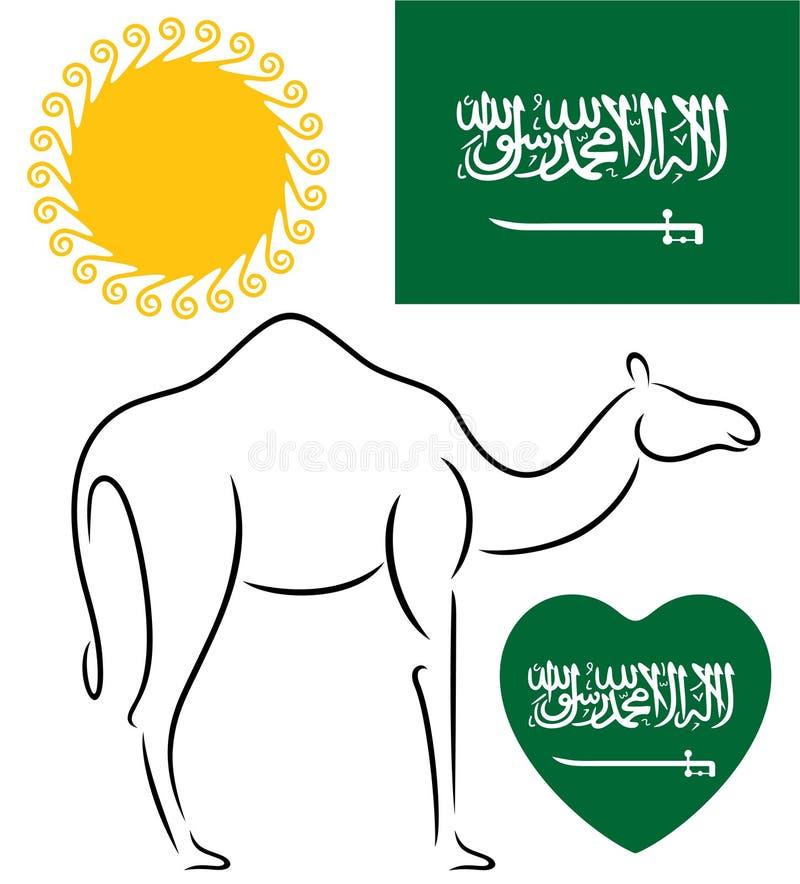 达成协议阿拉伯半岛地区夹子上色了海拔greyed包括映射路径替补沙特被遮蔽的状态周围的领土 向量例证