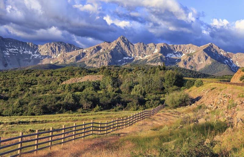 达拉斯分界,圣胡安山,科罗拉多 免版税图库摄影